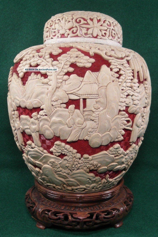 white cinnabar vase of antique chinese cinnabar vase pair of antique chinese red white regarding antique chinese cinnabar vase pair of antique chinese red white cinnabar 10 ginger jarsmeiji