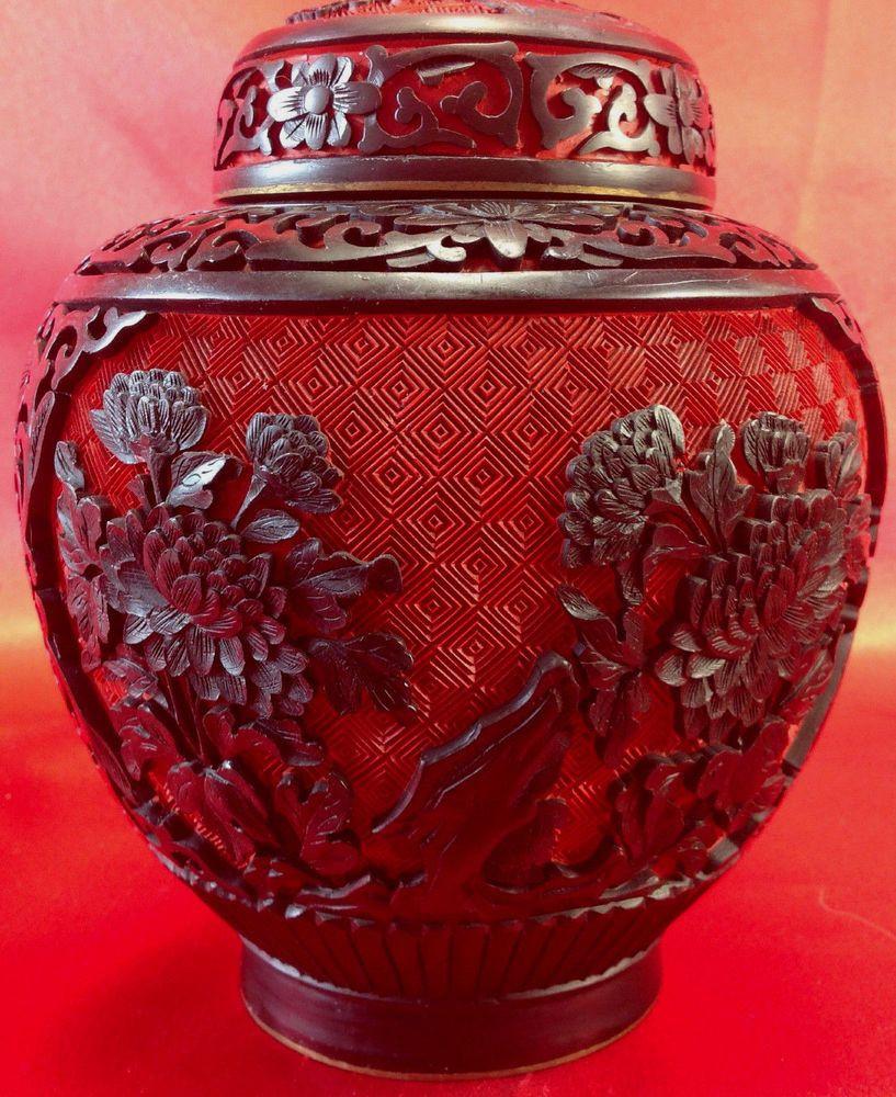 white cinnabar vase of chinese red cinnabar ginger jar carved black lacquer vase blue inside chinese red cinnabar ginger jar carved black lacquer vase blue cloisinne gingerjar