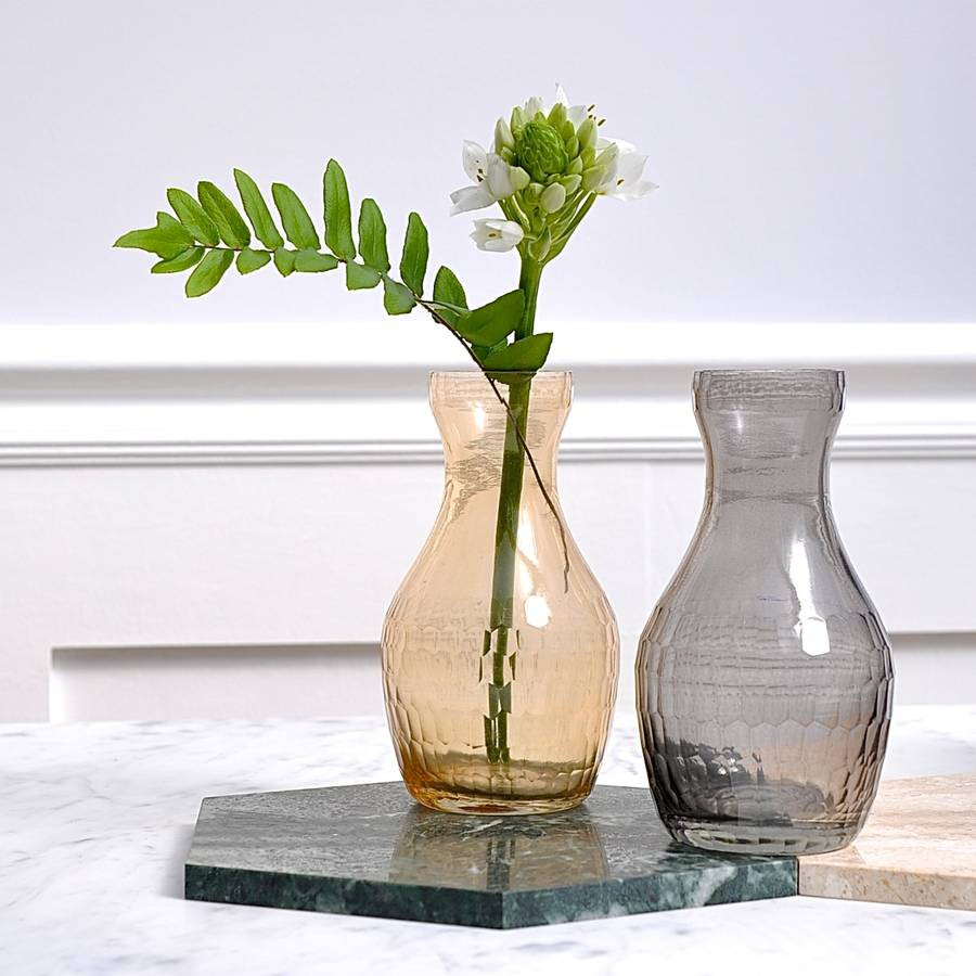 white faceted vase of facet glass vase by henry future notonthehighstreet com throughout facet glass vase