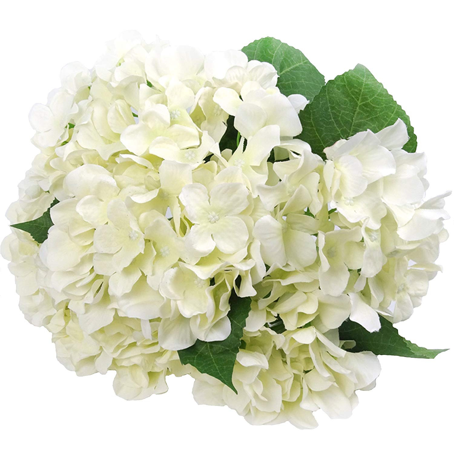 white flower vases bulk of amazon com felice arts artificial flowers 18 silk 7 big head regarding amazon com felice arts artificial flowers 18 silk 7 big head hydrangea bouquet for wedding room home hotel party decoration 1 cream home kitchen