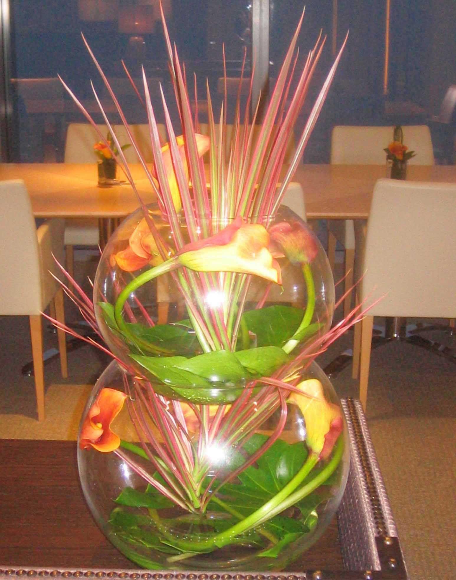 white glass bowl vase of flower arrangement in vase awesome 34 od gold fish bowl with orange pertaining to flower arrangement in vase awesome 34 od gold fish bowl with orange calla lily incased inside