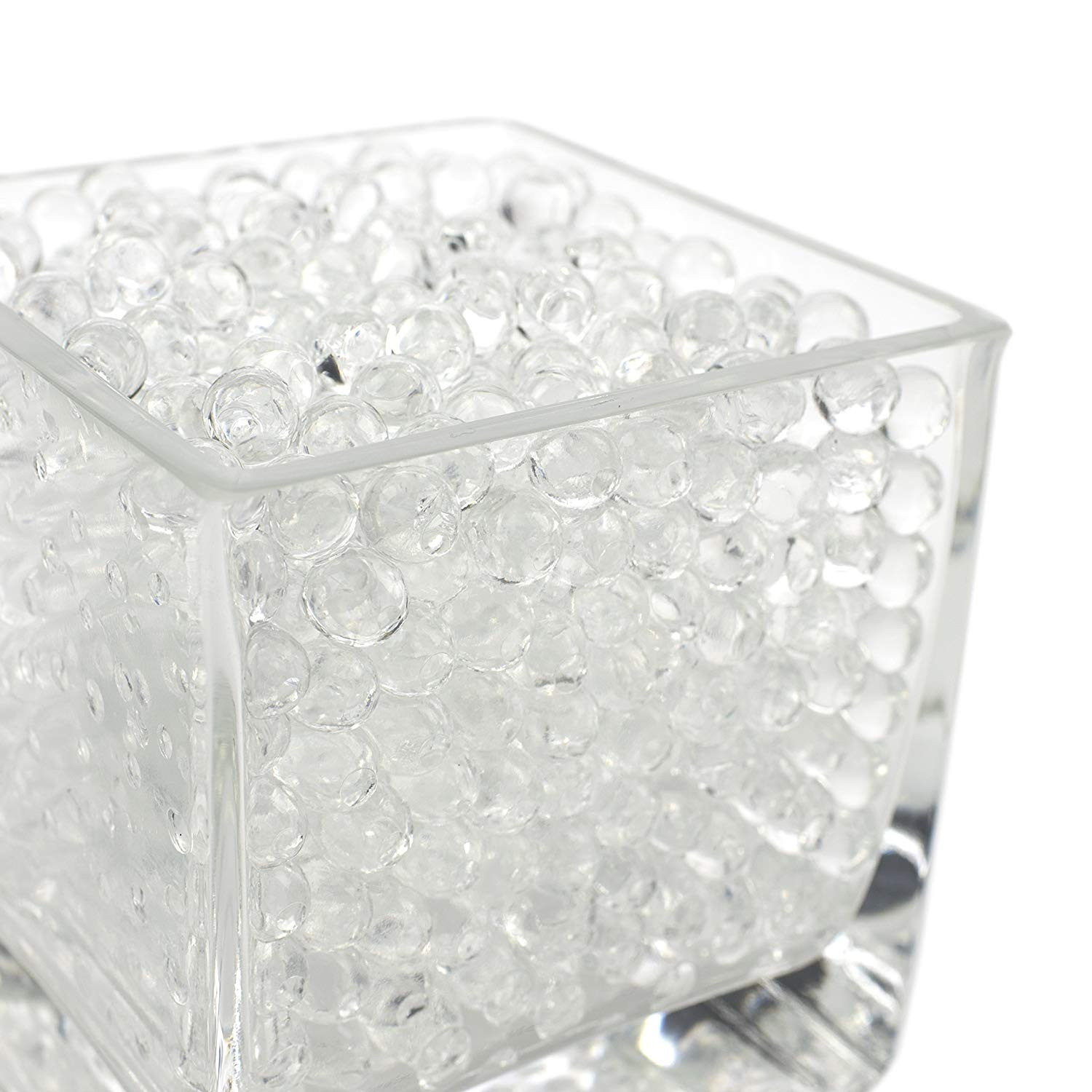 white glass cube vase of amazon com magic beadz clear jelly water beads transparent gel in amazon com magic beadz clear jelly water beads transparent gel pearls vase filler wedding centerpiece candles flower arrangements over 20000