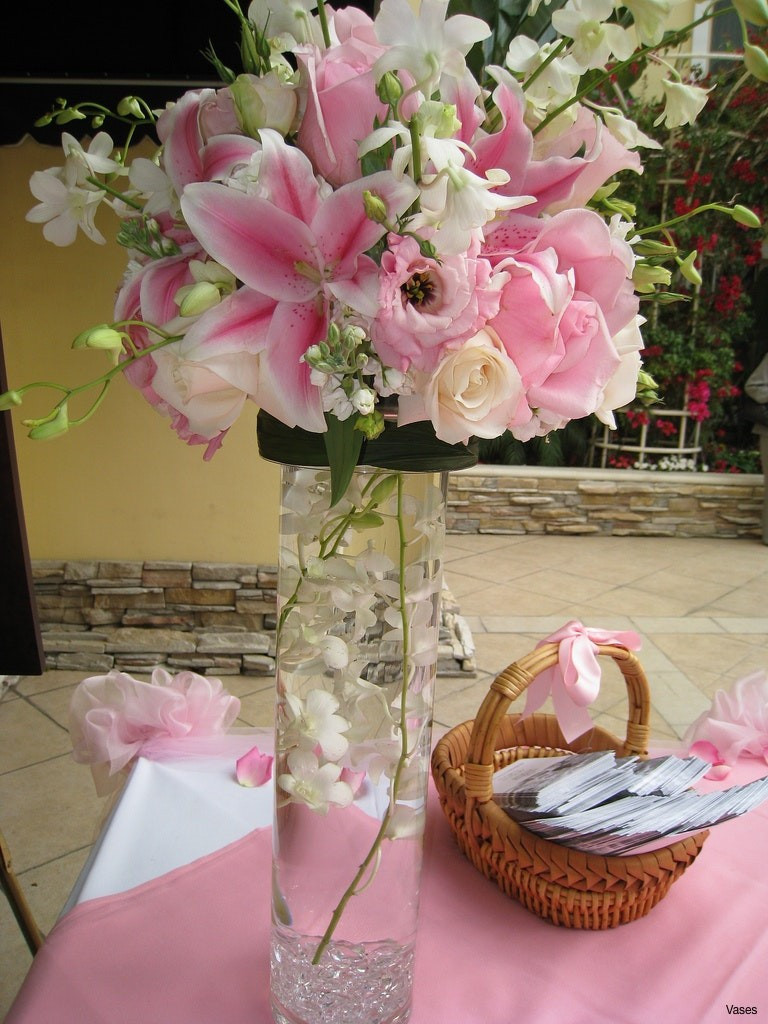 White Lily Vase Of Pink Flowers Image Awesome Pink Roses with Wax Flowerh Vases In A Pertaining to Pink Flowers Image Best Of Tall Vase Centerpiece Ideas Vases Flowers In Centerpieces 0d Flower Of