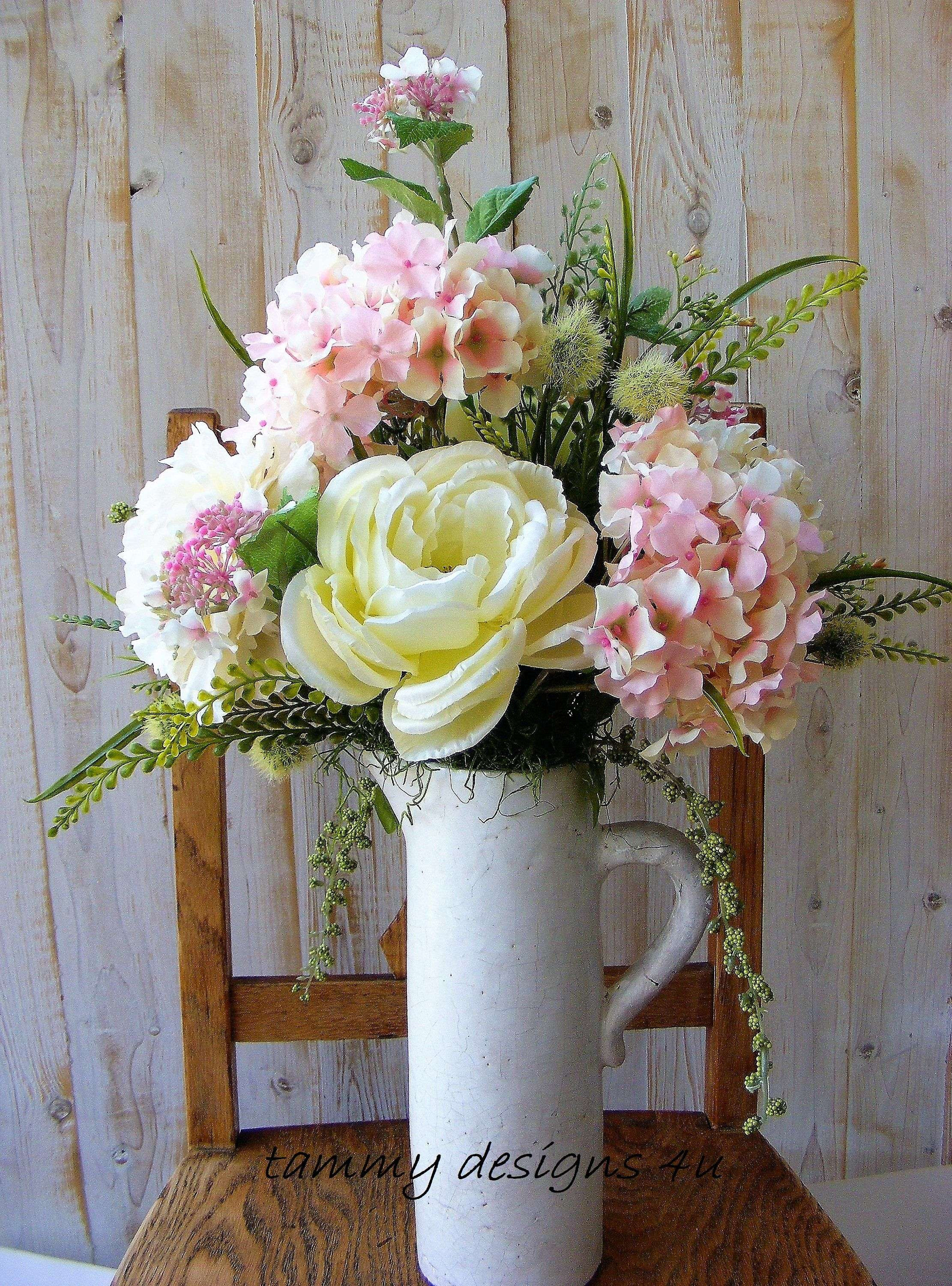 14 Lovable White Pitcher Vase 2021 free download white pitcher vase of luxury silk flower table arrangements uk floral arrangement pertaining to white pitcher silk flower arrangement light pink hydrangea cream peonies farmhouse decor cotta