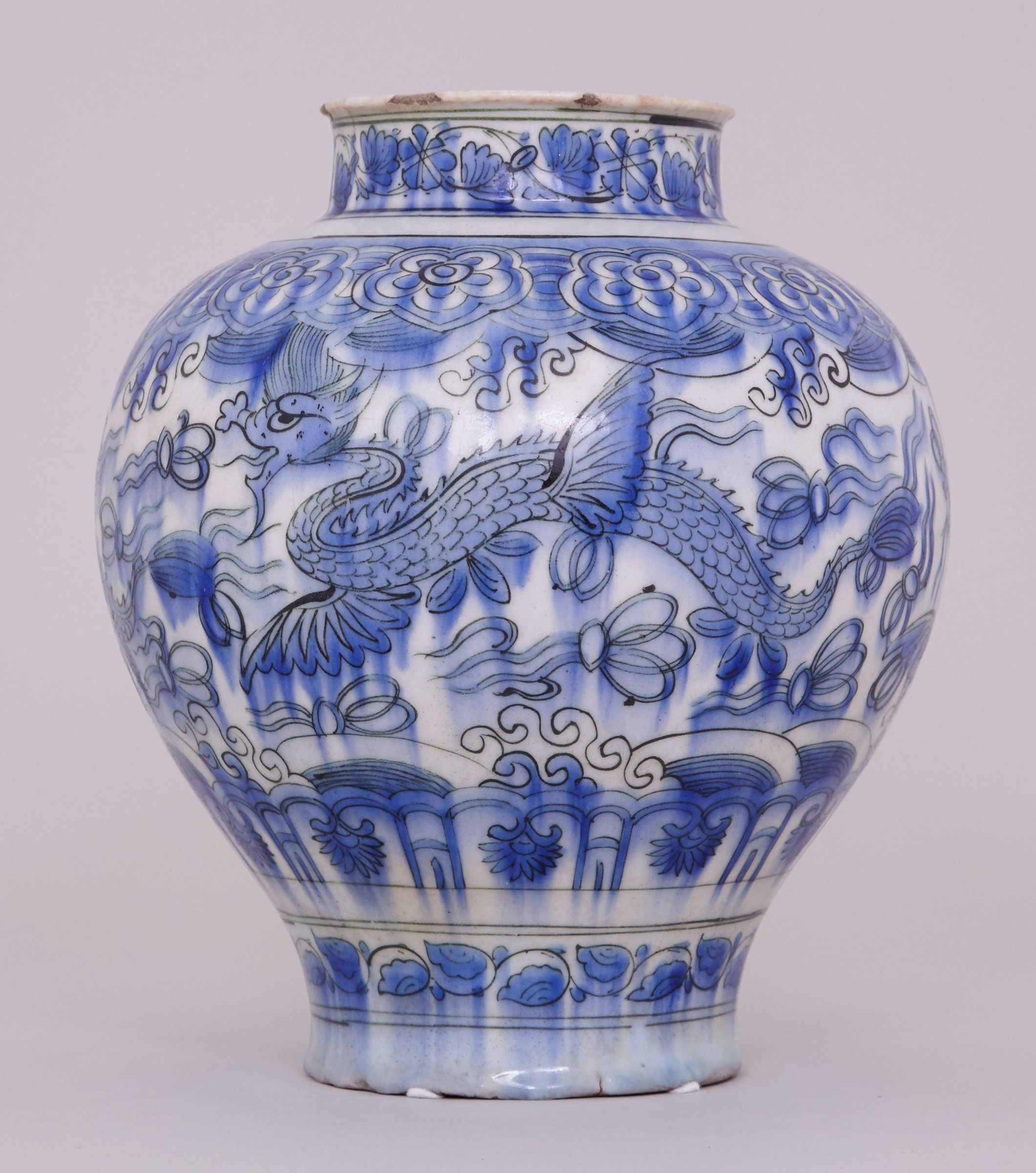White Porcelain Vase Of White Pottery Vase Elegant A Blue and White Persian Safavid Jar 17th Inside White Pottery Vase Elegant A Blue and White Persian Safavid Jar 17th Century