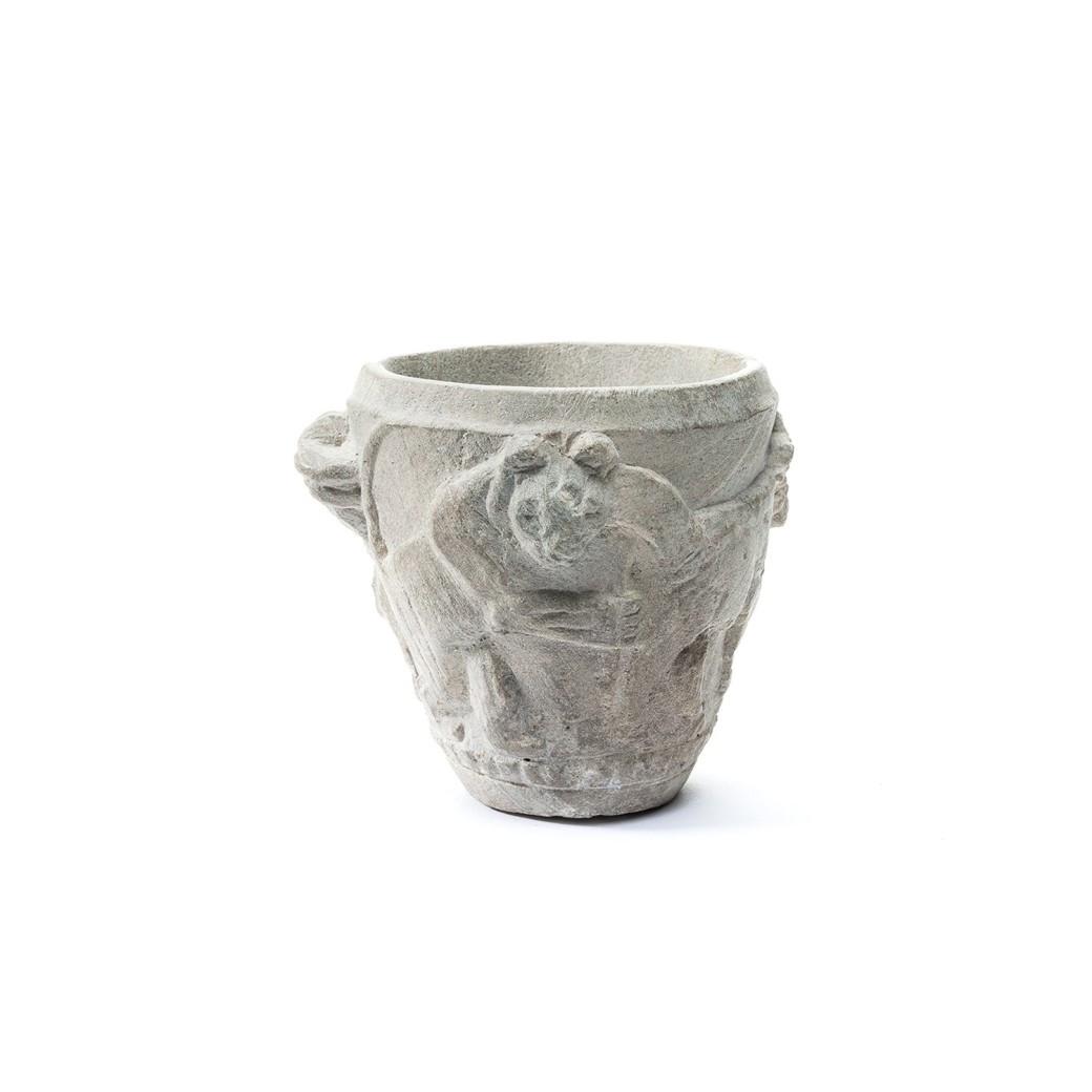 white pottery vase of sumerian ritual vase david aaron throughout sumerian ritual vase