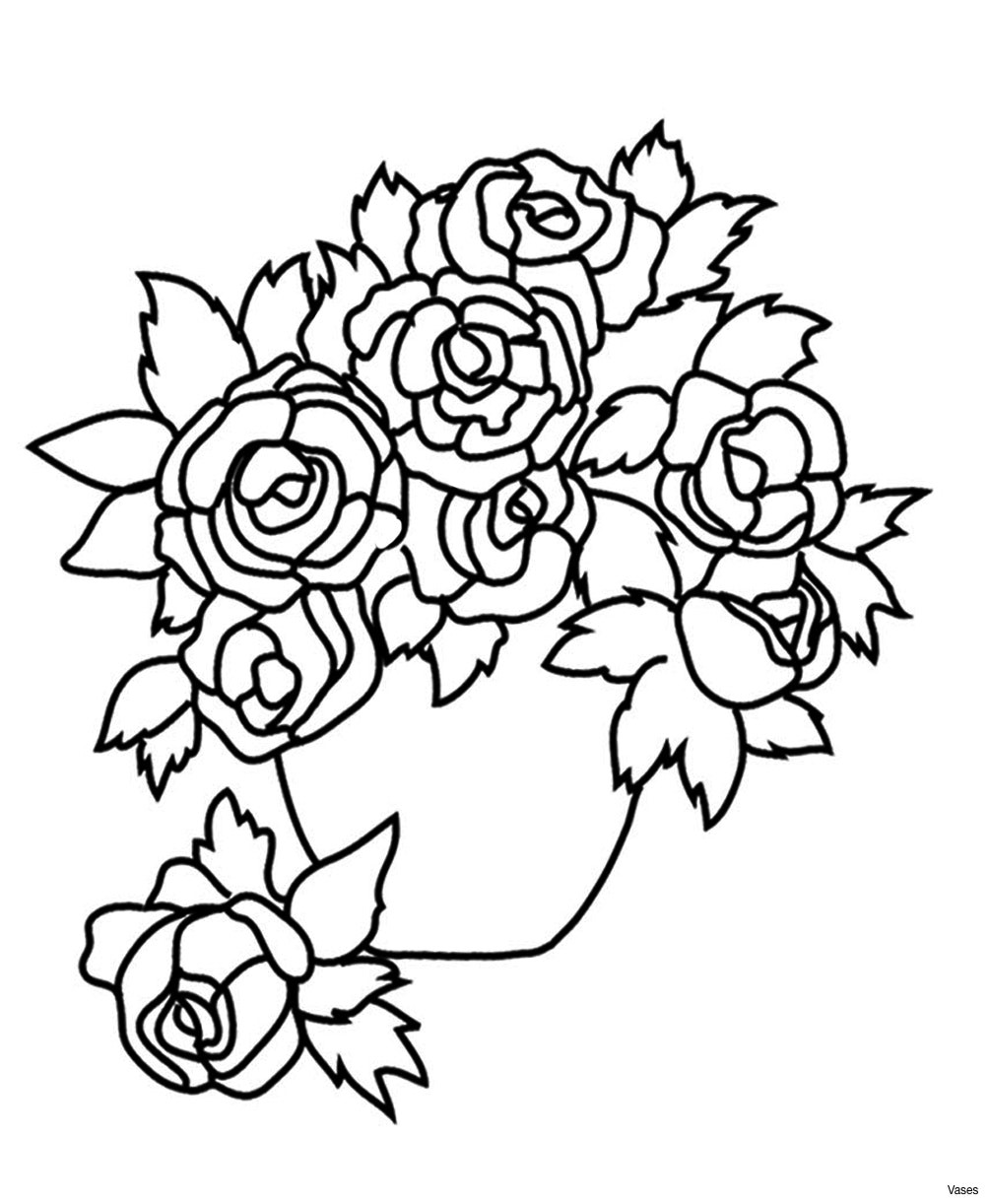 White Roses In Glass Vase Of Rose Flower Coloring Pages Fun Time with Regard to Rose Flower Coloring Pages Cool Vases Flower Vase Coloring Page Pages Flowers In A top