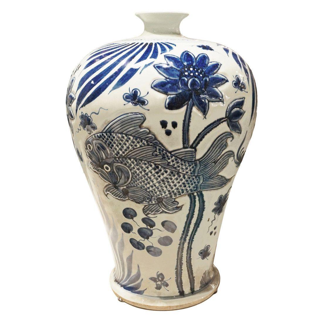 19 Wonderful White Urn Vase 2021 free download white urn vase of carved fish chinoiserie plum vase blue white products in carved fish chinoiserie plum vase blue white
