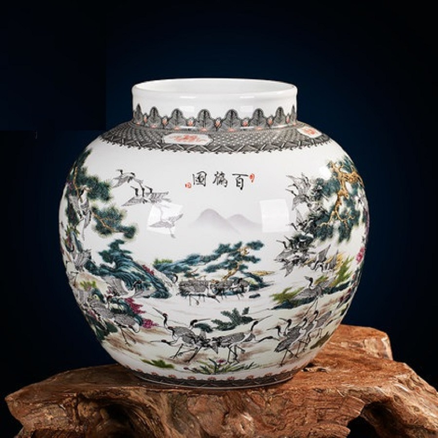 wholesale pottery vases of aliexpress com buy jingdezhen ceramic vases famous works art vases with regard to aliexpress com buy jingdezhen ceramic vases famous works art vases 100 cranes collectibles high end gifts porcelain from reliable art vase suppliers on