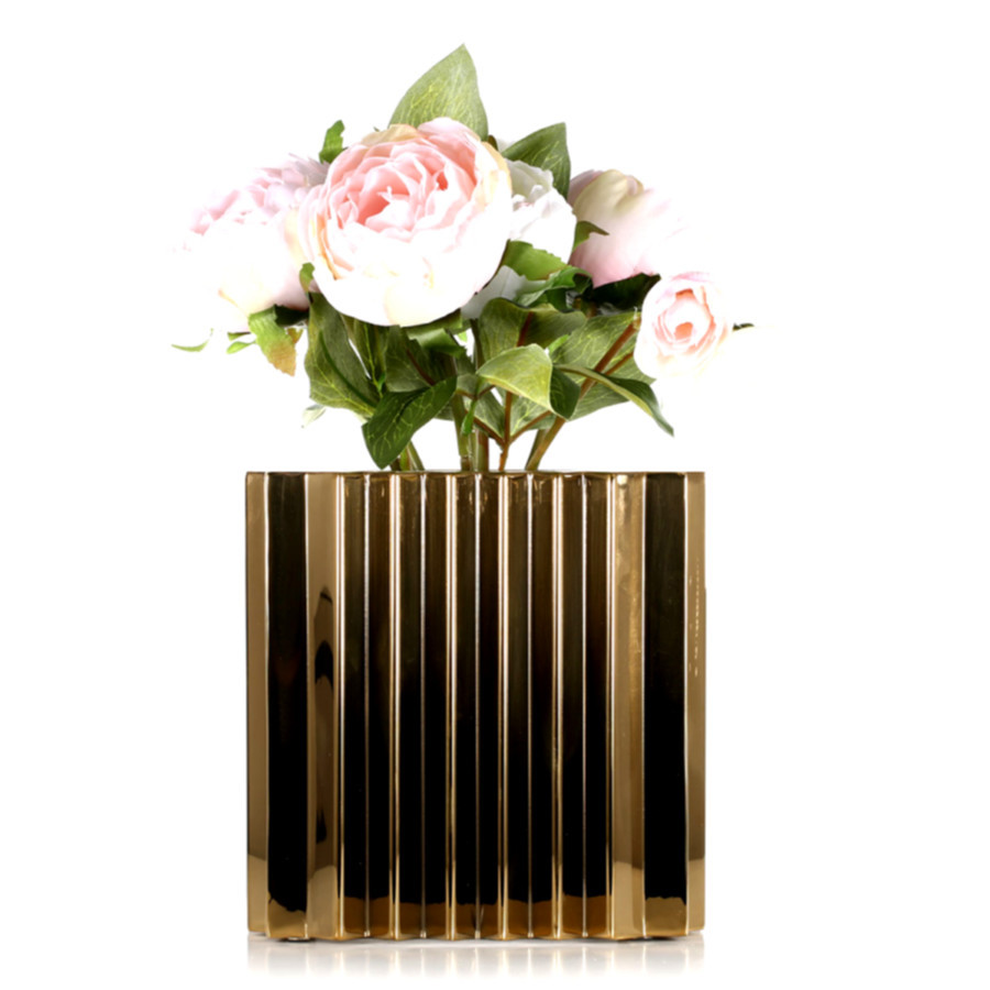 wholesale urn vases of 32 metal flowers for vase rituals you should know in 32 metal for best and cheap golden flower pot with wave pattern rustic style