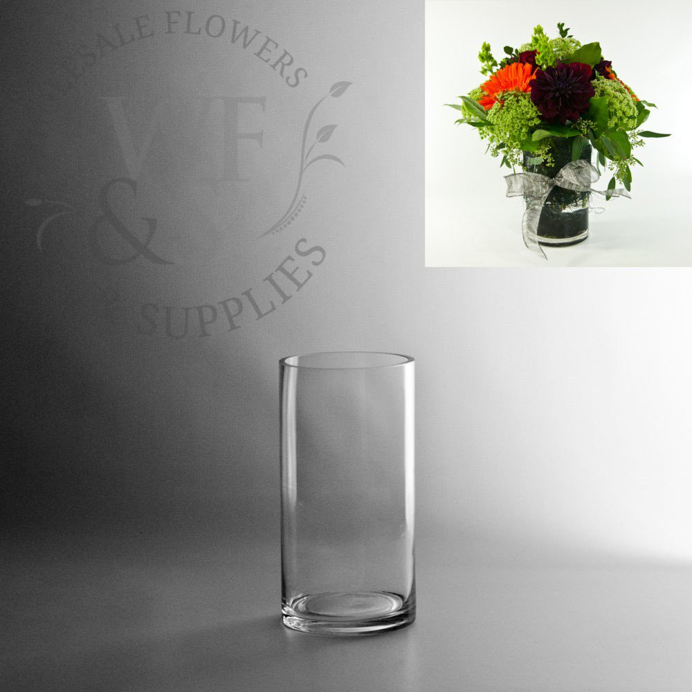 Wide Glass Cylinder Vase Of Glass Cylinder Vases wholesale Flowers Supplies for 8 X 4 Glass Cylinder Vase