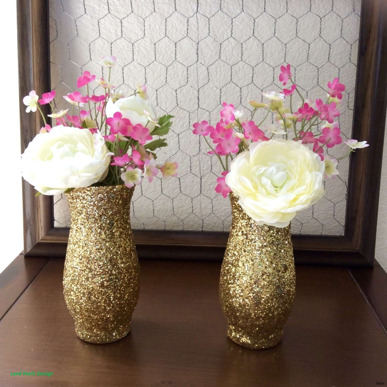 Wide Glass Vase Of 19 Gold Flower Vases the Weekly World Throughout Diy Vase