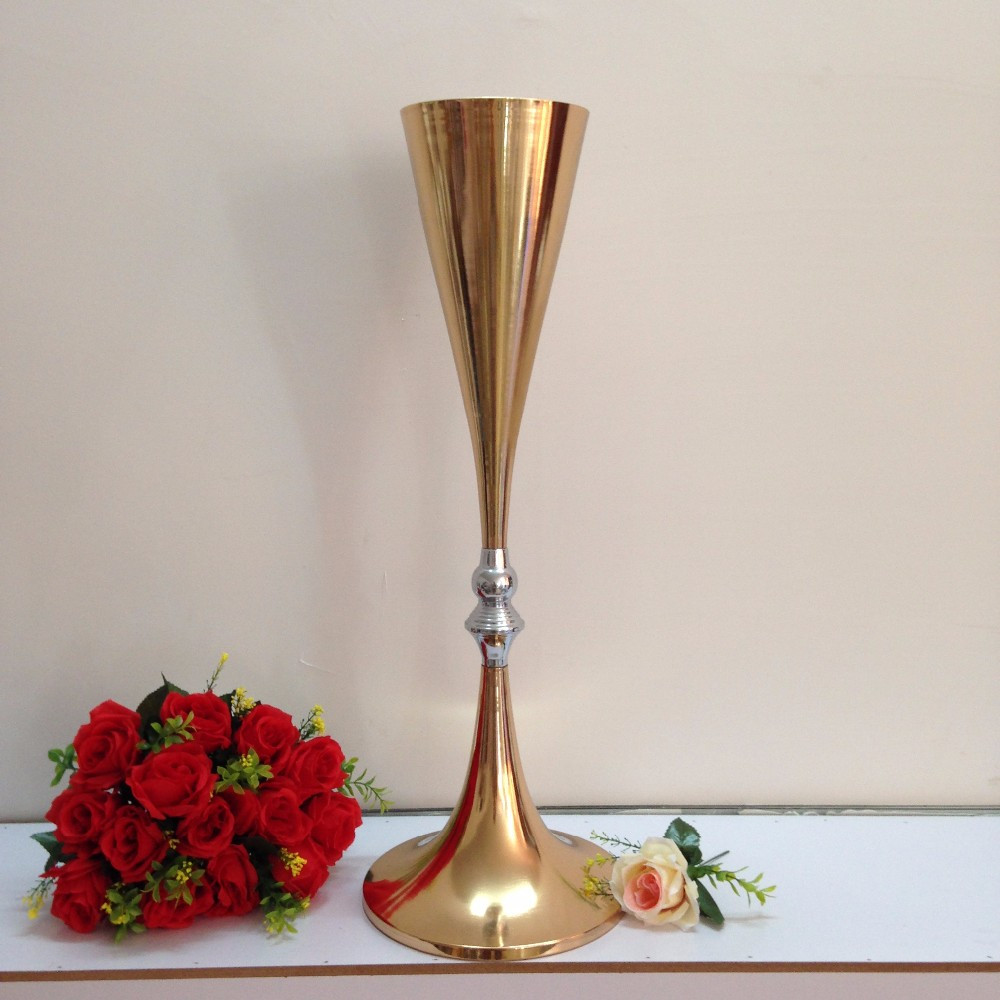 Wide Glass Vase Of Aliexpress Com Buy Free Shipping Gold Wedding Centerpiece Table Intended for Aliexpress Com Buy Free Shipping Gold Wedding Centerpiece Table Decor Metal Flower Vase Wedding Decoration 70cm Tall 10pcs Lot From Reliable Vase Decor