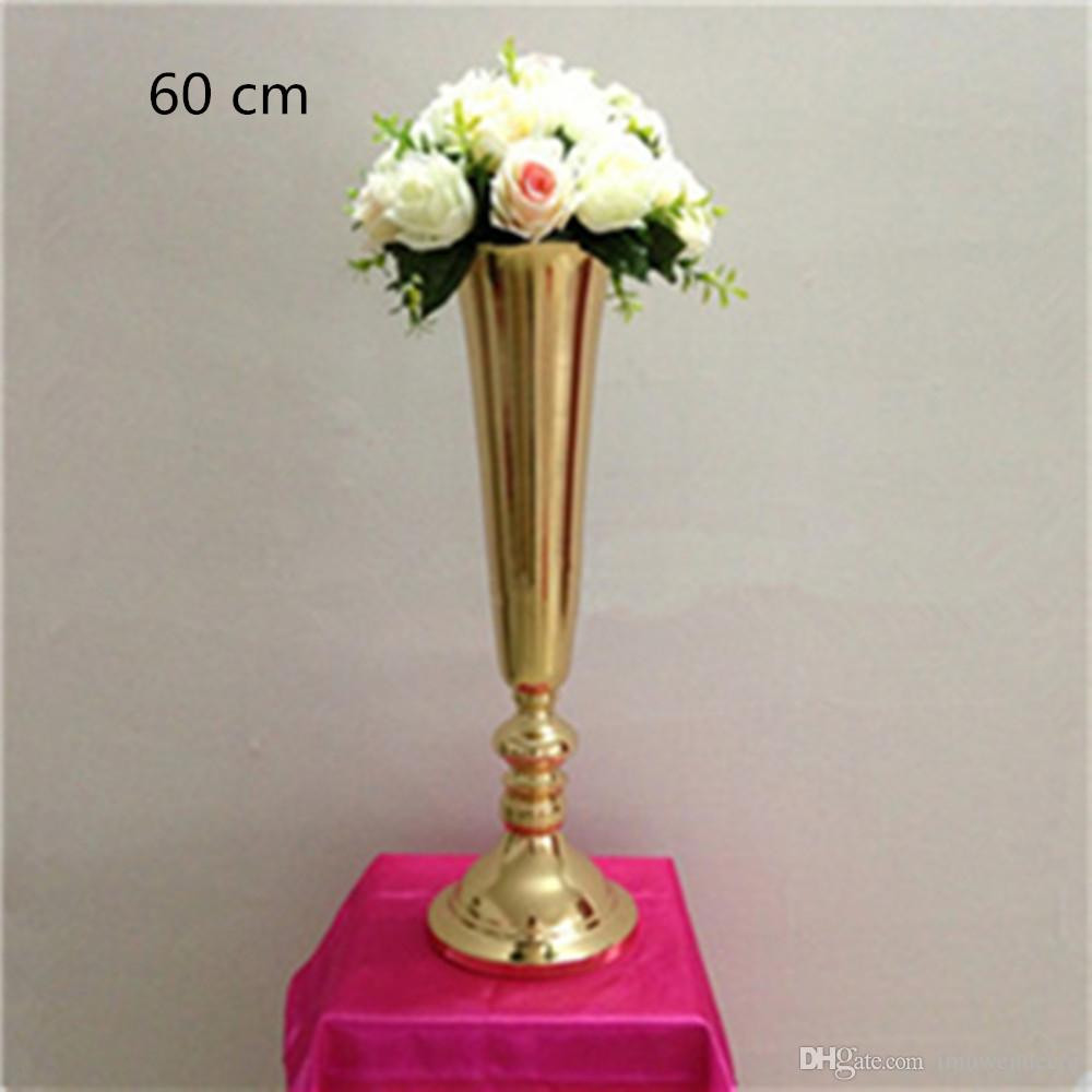 wide glass vase of silver gold plated metal table vase wedding centerpiece event road within silver gold plated metal table vase wedding centerpiece event road lead flower rack home decoration