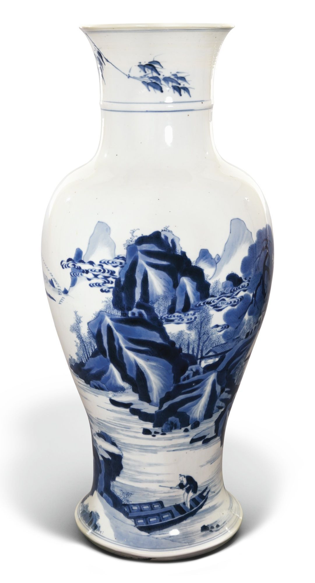 wide mouth vase of 32 wide mouth vase the weekly world with a large blue and white baluster vase qing dynasty kangxi period
