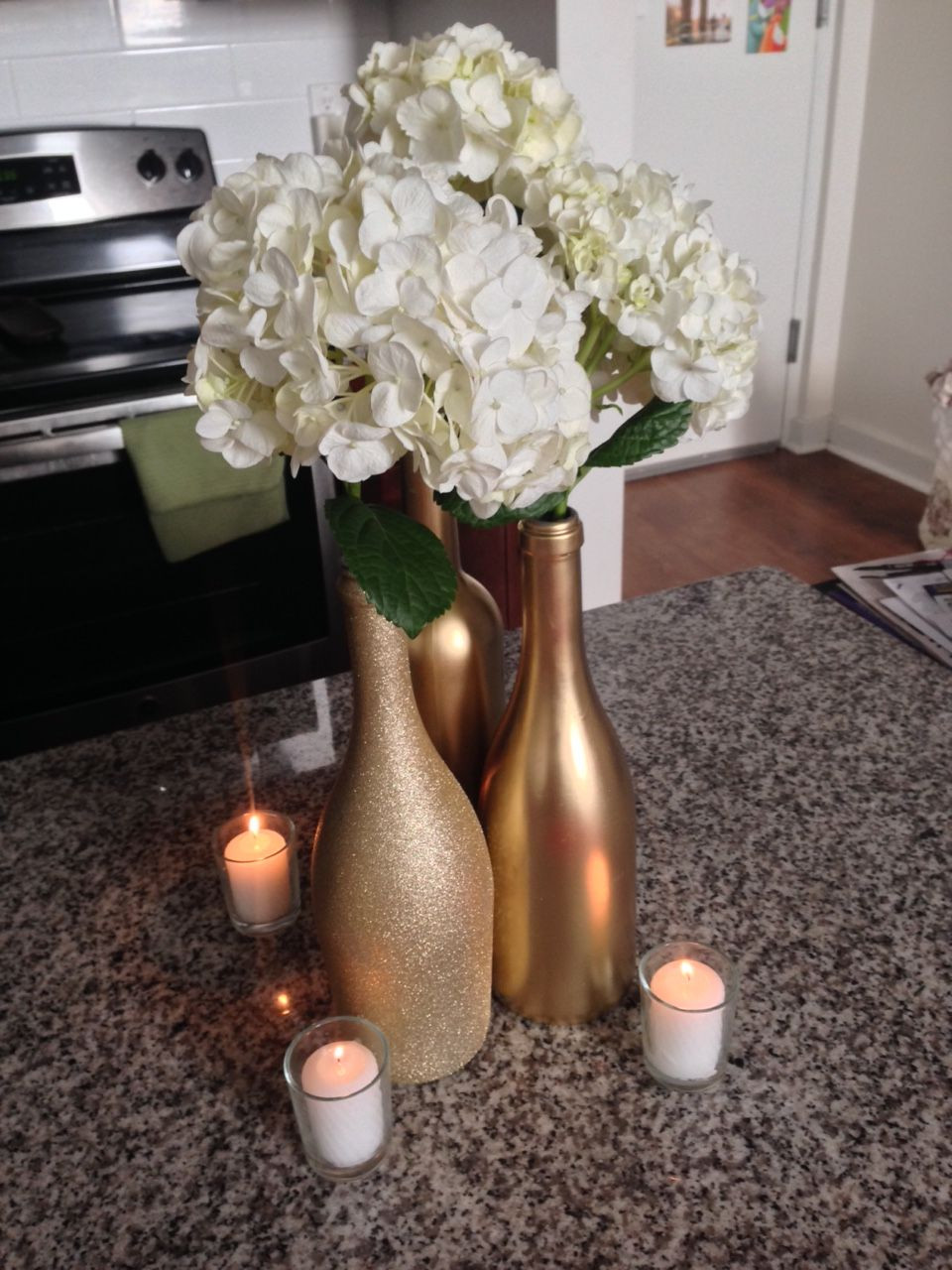 16 Cute Wine Bottle Vase Centerpieces