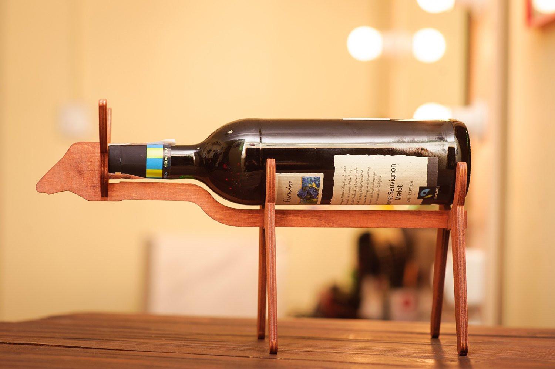"wine bottle vase wall mount of wooden wine holder bull wine gift ideas wooden wine rack wine etsy in dŸ""Žzoom"