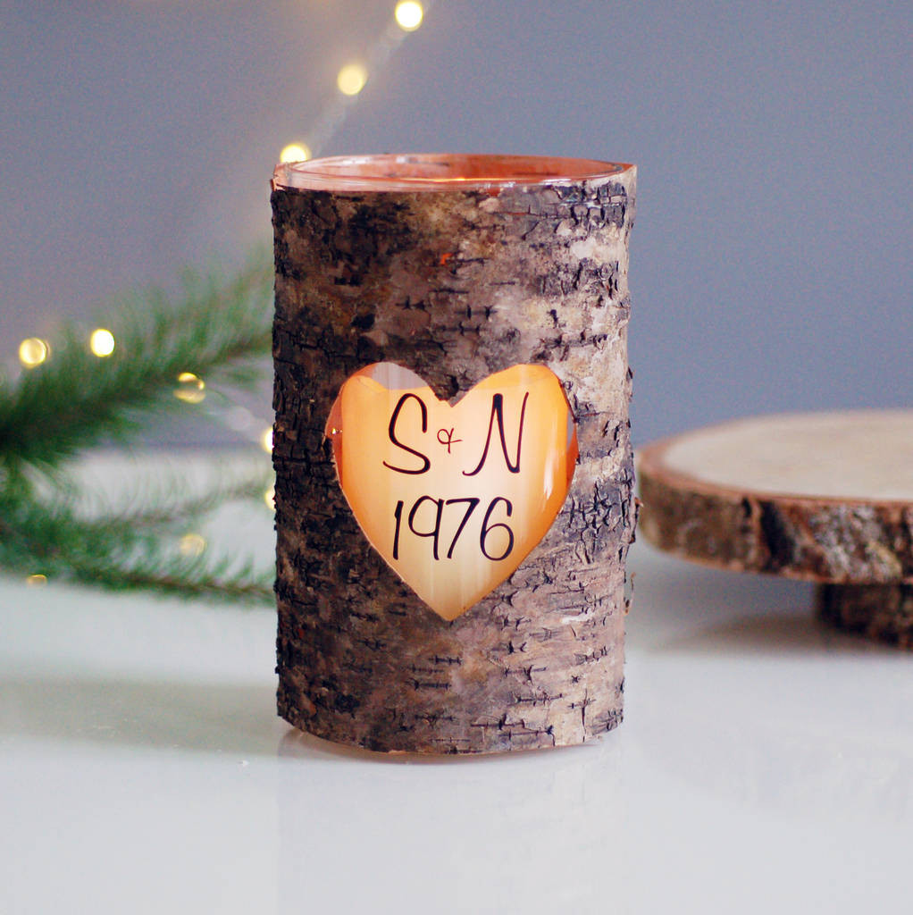 wood bark vases of personalised wood heart valentines candle holder by made with love for personalised wood heart valentines candle holder