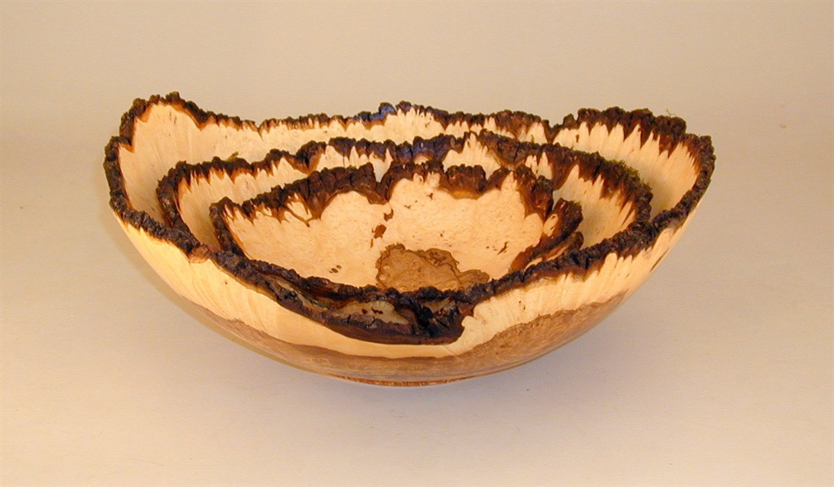 wood turned vase of nested bowls wood turning gallery d way tools with nestedmapleburl jpg