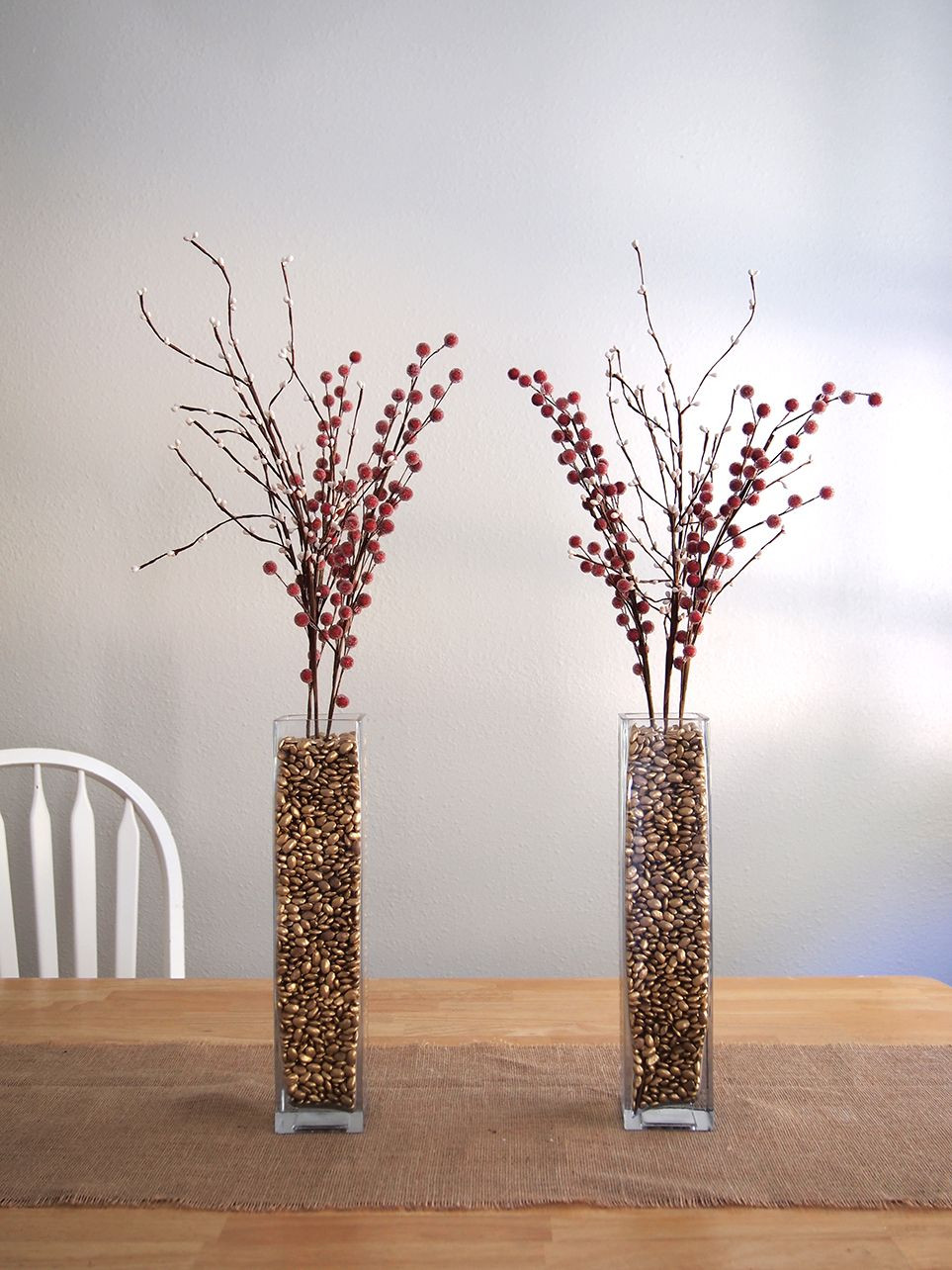 wood vase filler of spray painted pinto beans used for vase filler great idea great pertaining to spray painted pinto beans used for vase filler great idea