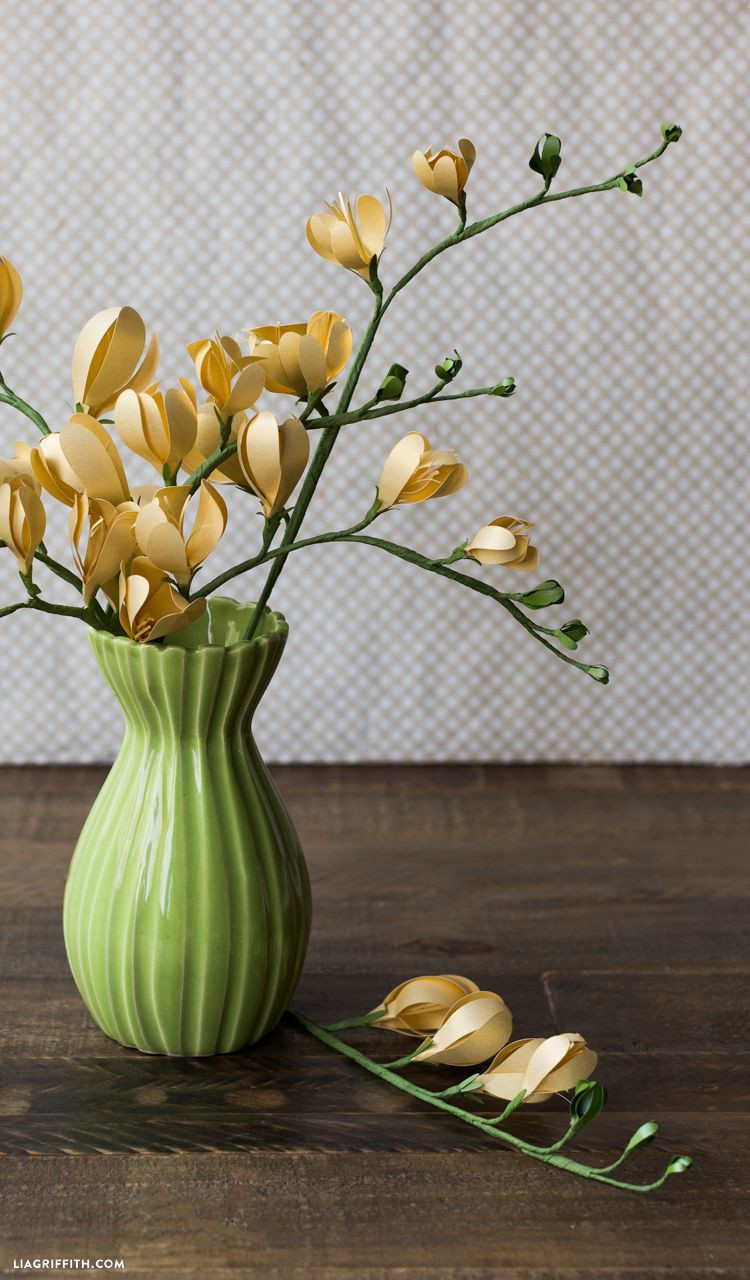 yellow flowers in vase painting of 28 fun and easy to make paper flower projects you can make for freesia 1 56ed9e4e5f9b5867a1c128bd