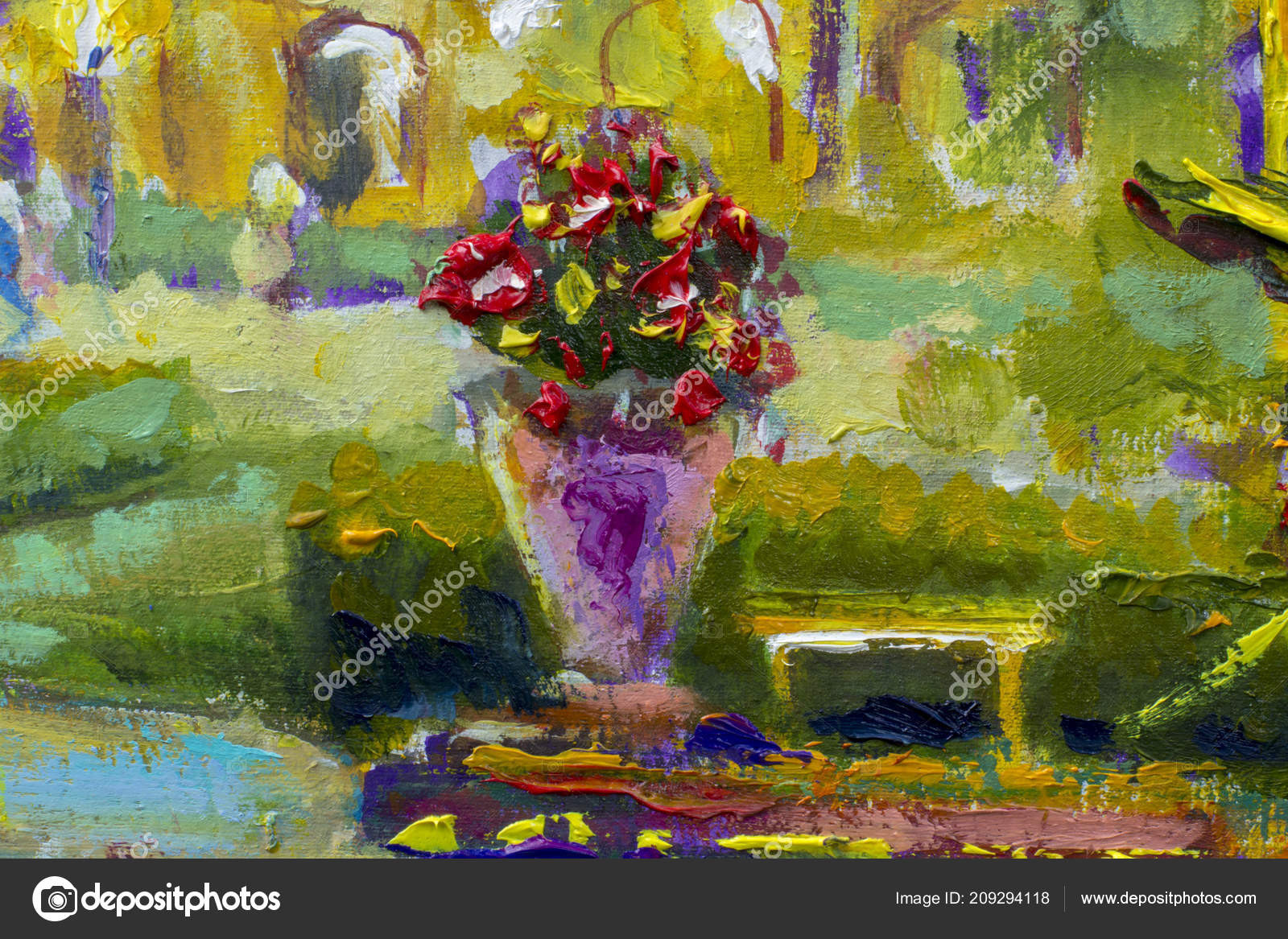 yellow flowers in vase painting of vase flowers fragment oil painting impressionism art stock throughout vase with flowers fragment of oil painting impressionism art fotografie od weris7554