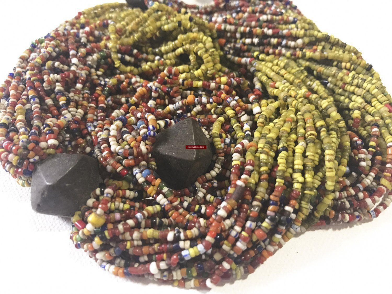 yellow glass beads for vases of 1220 antique tribal bead necklace with glass and 4 bronze beads inside 1220 antique tribal bead necklace with glass and 4 bronze beads odisha wovensouls
