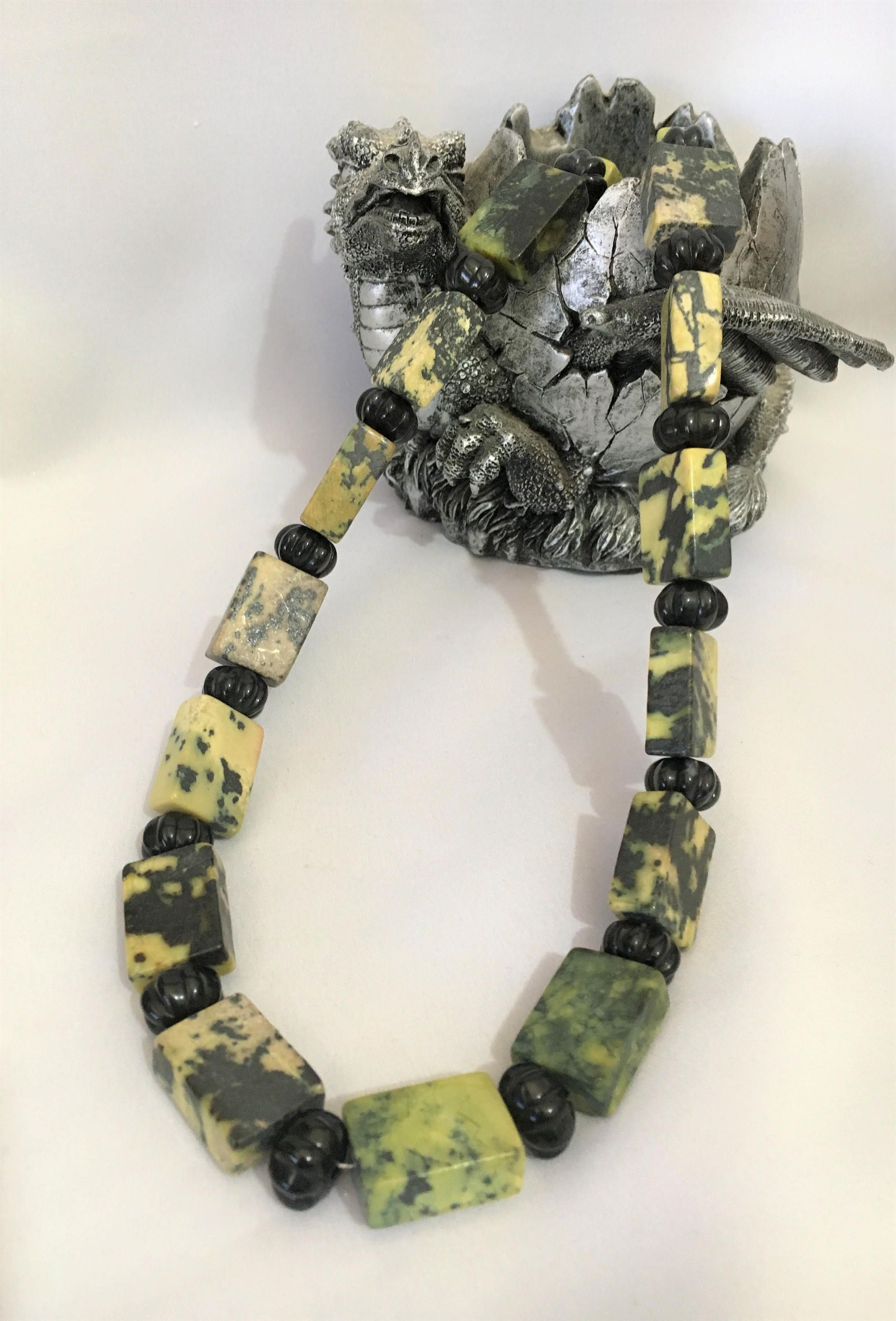 yellow glass beads for vases of jasper necklace semi precious stone necklace gemstone necklace within jasper necklace semi precious stone necklace gemstone necklace yellow and black necklace rectangular bead necklace crystal necklace by