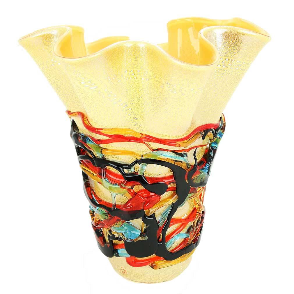 yellow hand blown glass vase of murano glass vases murano glass vesuvio abstract art vase pertaining to murano glass vesuvio abstract art vase