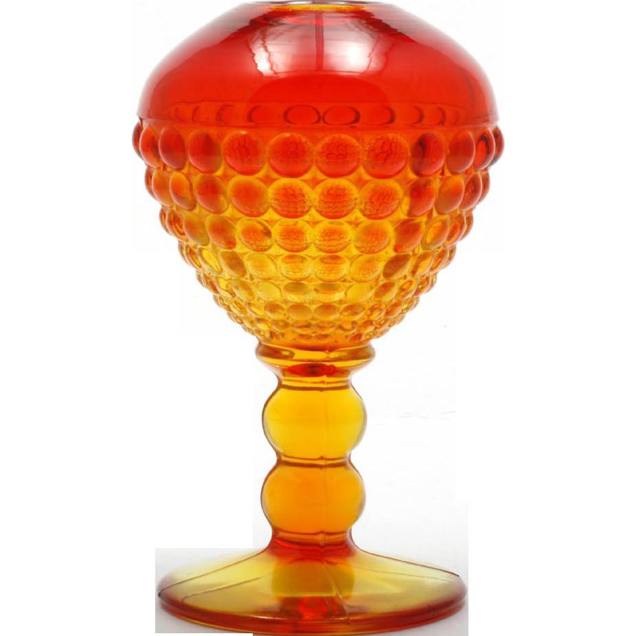 yellow hand blown glass vase of viking art glass amberina vase ivy ball vintage hobnail glass regarding viking art glass amberina vase ivy ball vintage hobnail