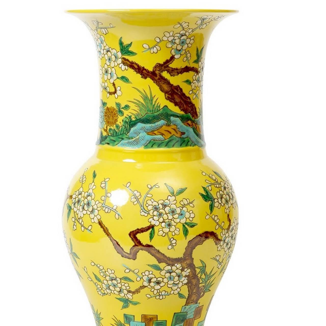 yellow pottery vase of instyle decor hollywood luxury furniture lighting decor gifts with regard to yellow vase yel