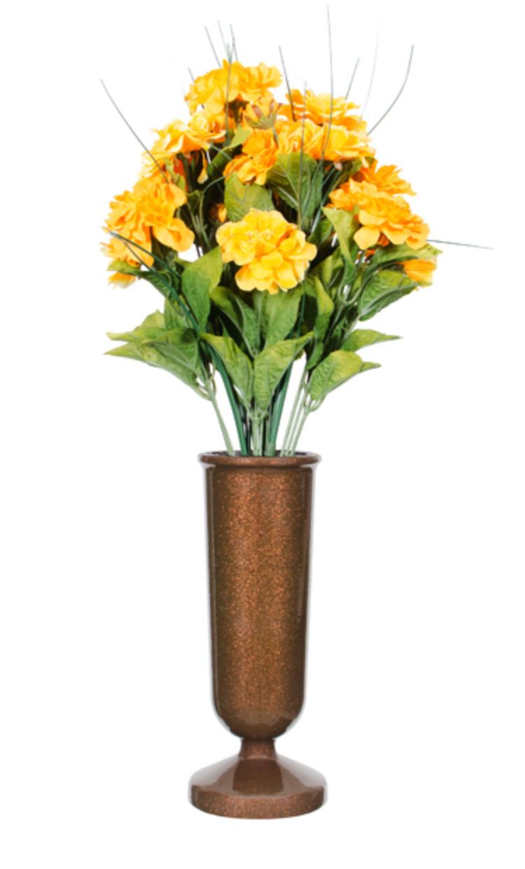 yellow roses in vase of flower vases for cemetery flowers healthy regarding flowered vases gem wellwood memorials